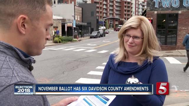 Six amendments on the Davidson County ballot- we break them down