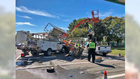 Five people injured in construction site crash