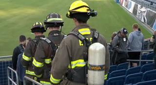 Dozens make memorial stair climb
