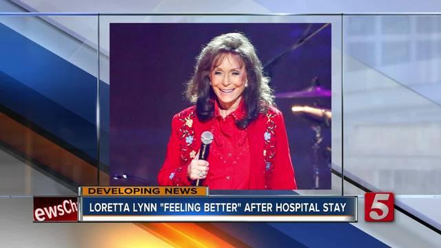 Loretta Lynn -resting- after hospital visit