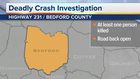 1 killed in Bedford County crash
