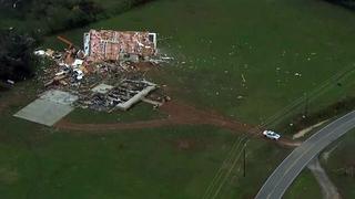 Photos: Sky 5 flies over storm damage