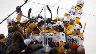 Ekholm scores in OT, Preds rally to beat Stars