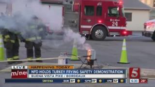 Firefighters warn of turkey frying dangers